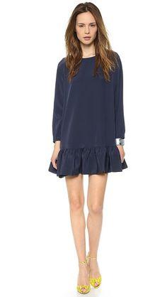 Cynthia Rowley Long Sleeve Flounce Dress