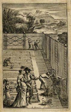 BPI1700: Abraham Hertochs, illustration for Nicolas de Bonnefons, The French Gardiner..., London, 1658.  bpi2367