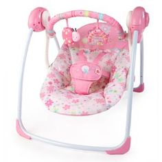 Gentil Bright Starts Pretty In Pink Blossomy Blooms Portable Swing   Nursery  Furniture U0026 Accessories   Nursery   Baby U0026 Toddler   The Warehouse
