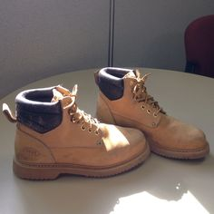 6e5a5ec5f3 Women s steel toe sz. 8 1 2 work boots I bought these NWT boots