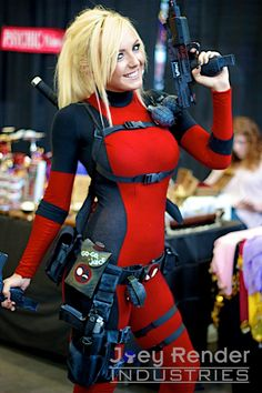 Jess Nigri as Lady Deadpool Marvel Girls, Ms Marvel, Marvel Comics, Cosplay Outfits, Cosplay Costumes, New Mutants 98, Deadpool Costume, Comic Con Costumes, Lady Deadpool
