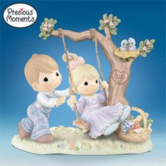 Precious Moments You Make My Heart Swing Collectible Porcelain Figurine