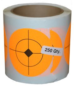 "This roll of stickers is meant to replace the target spots on the 3.5"" Jumping Target or the 3.5"" Paddle for the steel hostage target. Or you can stick them on other paper gun targets to practice. 250"