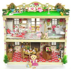 Sylvanian-Families-Decorated-Vintage-Mansion-House-Furniture-Figures-Lots