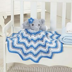 Stella Lovey Blanket  by Willow Yarns Design Team  • Willow Yarns™ Fawn Worsted