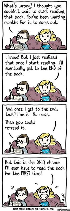 There's something very special about that first-reading experience!