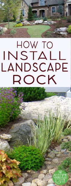 Learn how to position landscape rock and tips on installation.