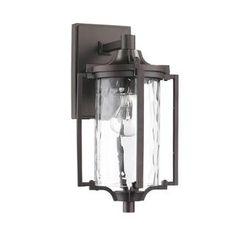 Transitonal 1-light Bronze Outdoor Wall Light Fixture