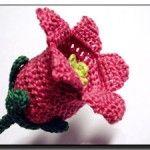 Canterbury Bells crochet flower pattern  This blog Meli Bondre has 365 free patterns beautiful work