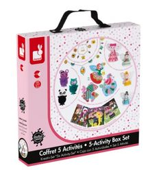 Buy Janod 5 Activity Box Set from our Arts & Crafts range at John Lewis & Partners. Arty Toys, Activity Box, 3 Balls, Craft Activities, Diaper Bag, Mosaic, Lunch Box, Cute Animals, Janod