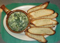 Dip de Espinacas a la crema, con tocineta, y un toque de mozzarrella y blue chesee