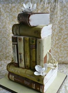 A cake of books for book lovers! Cake Wrecks -  - Sunday Sweets: New Year'sDelusions