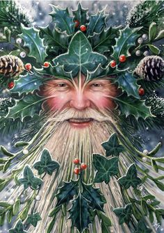 The Holly King, the Druidic Lord of the Winterwood and darksome twin of the waning year, rules from Midsummer to Midwinter. At Midsummer, he goes to battle with his twin, the Oak King, for the favor of the Goddess. He slays the Oak King, who goes to rest in Caer Arianrhod until they do battle again at Midsummer.