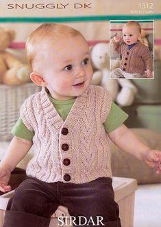 3d444c3d4 Free knitting pattern for Junior V-Neck baby vest - Size  1 3 – 6 9 ...