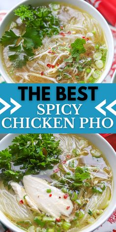Pho Soup Recipe Chicken, Soup With Rotisserie Chicken, Pho Soup Recipe Easy, Spicy Noodle Soup Recipe, Easy Soup Recipes, Spicy Recipes, Chinese Soup Recipes, Chowders, Bon Appetit