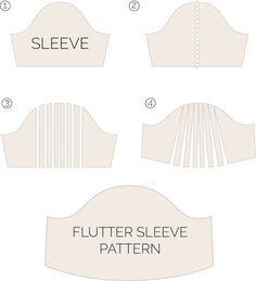 Flutter Sleeve | Tutorial Dress Tutorials, Flutter Sleeve, About Me Blog, Sewing, Sleeves, Pattern, News, Crafts, Clothes