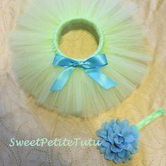 Blue and Green tutu set Mint green tutu with by SweetPetiteTutu