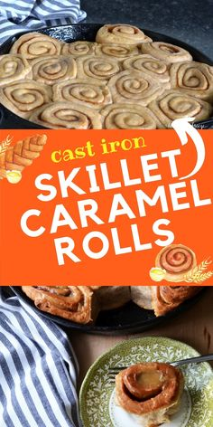 Make a warm and comforting batch of cinnamon rolls using the convenience of your electric mixer and cast iron skillet! An amazing breakfast comfort food recipe, you can take it up a notch by adding a drizzle of mouth watering homemade carmel sauce over the top. So delicious!