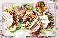 Jerk seasoning pairs perfectly with the sweetness of the mango salsa in these Caribbean-Mexican fusion style tacos! Bbq Appetizers, Easy To Make Appetizers, Appetizer Recipes, Brunch Recipes, Dinner Recipes, Jerk Salmon, Salmon Tacos, Fish Tacos, Charcuterie And Cheese Board