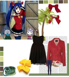 """Wendy Marvell Inspired Look"" by neonrainbow02 on Polyvore"