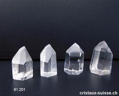 Cristal de roche pointe polie 3 à 3,5 cm. OFFRE SPECIALE