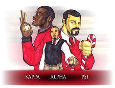 Kappa Alpha Psi Fraternity, Omega Psi Phi, Zeta Phi Beta, Delta Sigma Theta, Alpha Kappa Alpha, Black Fraternities, Gear Art, Sale Poster, Greek Life