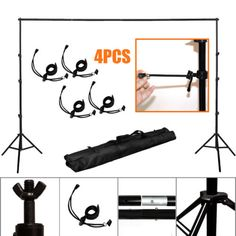 Studio 10Ft Adjustable Background Support Stand Photography Backdrop Crossbar Kit