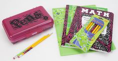 Decorate School Supplies with Printed Packaging Tape good idea