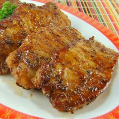Salt and Pepper Pork Chops....3 tablespoons soy sauce 2 tablespoons cornstarch 1 teaspoon fresh cracked pepper 1 tablespoon granulated sugar 1/4 teaspoon salt 1-1/4 pounds boneless thin-cut pork loin chops 2 tablespoons vegetable oil