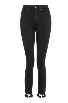 8088c3774e PETITE Black Tassel Jamie Jeans Bohemian Look