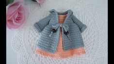 Baby Knitting Patterns Jacket How to crochet Blythe doll clothes / doll clothes Crochet Doll Dress, Crochet Doll Clothes, Crochet Doll Pattern, Crochet Patterns, Hat Crochet, Crochet Tutorials, Crochet Ideas, Knit Dress, Sewing Patterns