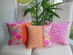 Bright Pink Leopard Pillow