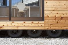 the 'mobile smile project' is a mobile housing  system for victims of the 2011 tohoku earthquake and tsunami in tohoku, japan by atelier tekuto.