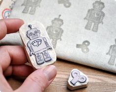 Memi The Rainbow: Handcarved Rubber Stamps