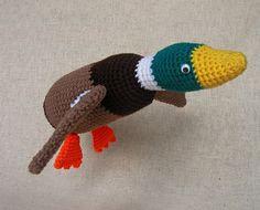 Flying Duck Crochet Pattern by WolfDreamerOTH on Etsy www.etsy.com