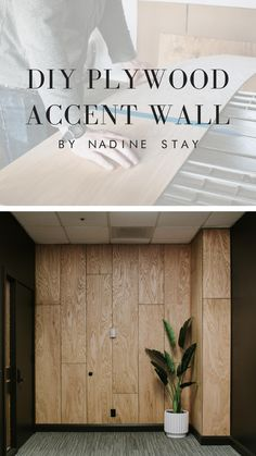 A stunning accent wall that you can recreate in your home! Plywood Wall Paneling, Wood Slats, Accent Ceiling, Plywood Interior, Wood Accents, Wood Accent Walls, Wall Trim, Wall Design, Design Design