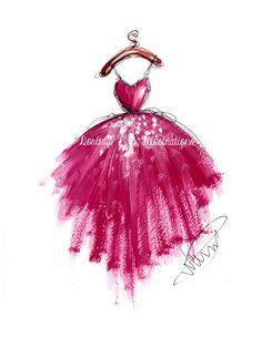 Fashion art, Fashion illustration, Fashion wall art, Fashion sketch, Fashion drawing,Watercolor painting,Fashion painting, Dress sketch