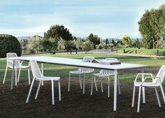 Tile Contemporary Garden Dining Table