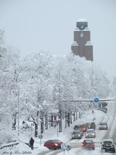 Winter in LAHTI, Finland. City hall, Photo by tiina Litukka Finland, City, Winter, Outdoor, Winter Time, Outdoors, Cities, Outdoor Games, The Great Outdoors