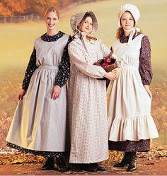 Nice period clothing   Pioneer Prairie Dress, Apron, Pinafore, Bonnet - McCalls SEWING Pattern 7220 S-L #McCalls #PioneerDressAccessoriesCosplayCostume - on eBay - seller aimojam