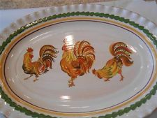Williams Sonoma Tuscan Rooster Platter NWT MINT