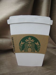 Starbucks Cup Greeting Card by EllasLittleShop on Etsy