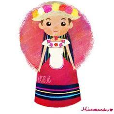 Trajes típicos de México by Yasmin Islas - Michoacán de Ocampo