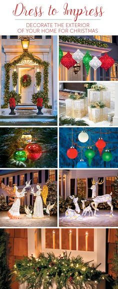 The Chic Technique: Show everyone your holiday spirit by lighting up your neighborhood with outside Christmas decor! Christmas Lights Outside, Outside Christmas Decorations, Hanging Christmas Lights, Christmas Events, Decorating With Christmas Lights, Noel Christmas, Holiday Lights, Christmas Colors, Christmas Wreaths