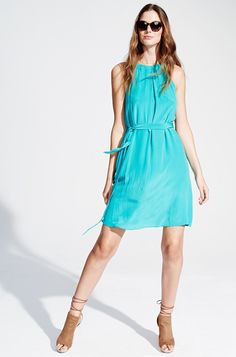 Blaues Neckholder Seidenkleid KALA Fashion