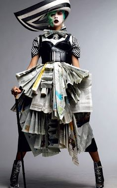 """Read All About It!!""  The Daily News Couture"