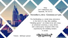 Don't Miss The NotWedding! Coming to Nashville on November 5th! #w101nashville #nashvilleweddings #nashvillenotwedding