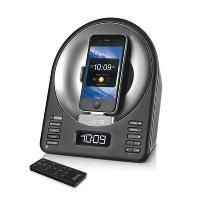 iHome iA63 Black App-Enhanced Alarm Clock FM Radio Stereo Speaker System with Motorized Rotating Dock for iPhone and iPod works great with CoolStream Duo Bluetooth Adapter: http://coolstreamrocks.com/product-catalog/