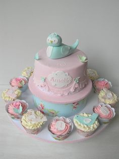 adorable spring birdy cake from Just Call Me Martha.  love the colors!!