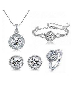 viStar Sterling Silver Rhodium Plated Cz Open Double Heart Pendant